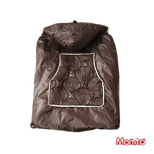 [Manito] Shiny Skin Manteau / Warm Skin Cover Manteau Footmuff for Baby Stroller, Pushchair and Baby Carrier, Wind Shield for Baby Outdoor Strolling (Choco)