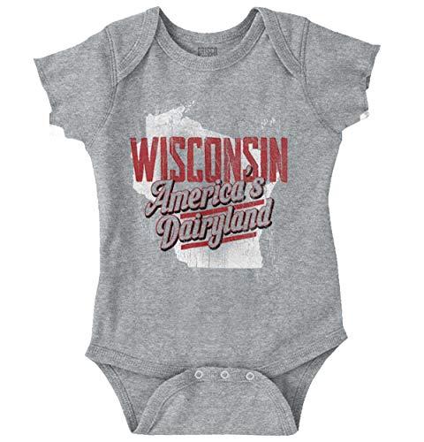 Wisconsin USA Dairyland Cheese Team Uniform Romper Bodysuit