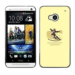 Stuss Case / Funda Carcasa protectora - God Surfed - Funny - Surf - HTC One M7