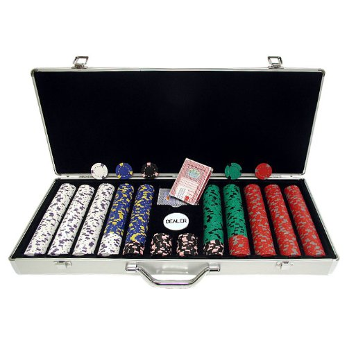 - Trademark 650 13 Gm Pro Clay Casino Chips with Aluminum Case (Silver)