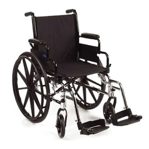 Invacare 9000 SL Wheelchair - 18 x 16 Seat, Fixed Height Space-Saver Desk Arms - 9SL_PTO_34751