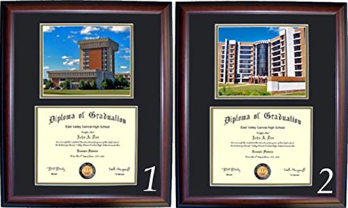 Auburn - Montgomery Diploma Frame - Photo Option #2 - Walnut Frame ()