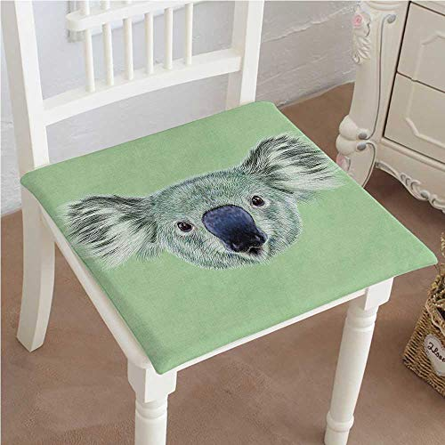 Mikihome Outdoor Chair Cushion Tropical Koala Bear Portrait Hipster Zoo Wild Graphic Print and Reseda Green Comfortable, Indoor, Dining Living Room, Kitchen, Office, Den, Washable ()