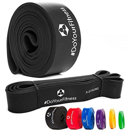 »PullMeUp« Premium Latex Pull Up Fitnessbänder Widerstand-Bänder Trainingsbänder Strap Training Loop CrossFit-band für Stärke Gewichtstraining und Yoga (schwarz)