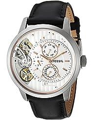 Fossil Mens ME1164 Townsman Twist Multifunction Black Leather Watch