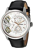 Fossil Mens ME1164 Townsman Twist Multifunction Black Leather Watch