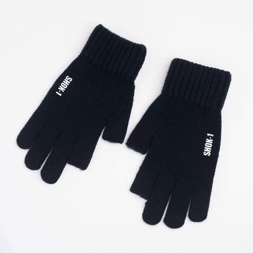 Knitted Wool Touch Screen Men Gloves Winter Autumn Warm Outdoor Sports Mittens