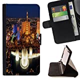 Graphic4You Las Vegas USA United States of America Postcard View Thin Wallet Card Holder Leather Case Cover for LG V20