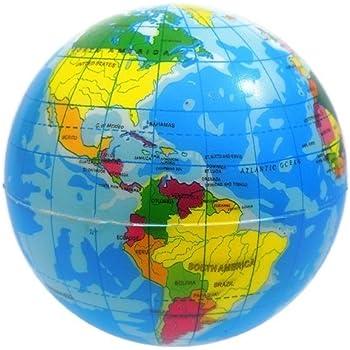 Globe Squeeze Stress Ball - 2.5 Inch.