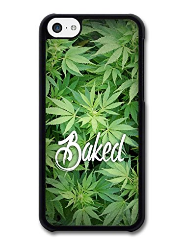 New Baked Design Funny Weed Marijuana Text Quote on Green coque pour iPhone 5C