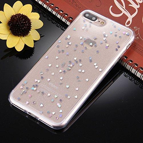 Hülle für iPhone 7 plus , Schutzhülle Für iPhone 7 Plus Glitter Powder Transparente weiche TPU schützende rückseitige Abdeckungs-Fall ,hülle für iPhone 7 plus , case for iphone 7 plus