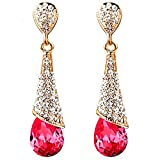 MosierBizne Water Droplets Crystal Earrings