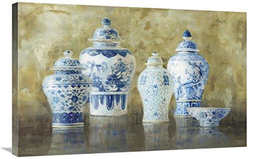 Global Gallery Danhui NAI, Ginger Jar Still Life v.2' Giclee Stretched Canvas Artwork 36 x 24