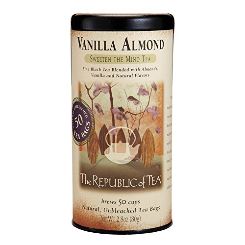 Republic Of Tea Almond Tea (The Republic of Tea, Vanilla Almond Black Tea, Caffeinated, 50 Tea Bags)