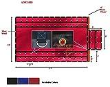 Mytee 16' x 27' Flatbed Tarps Heavy Duty 18oz Steel Tarp with Flap - Red