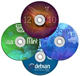 4 DVD Linux Collection - Ubuntu 12.10, Linux Mint 14, Fedora 18, and Debian 6