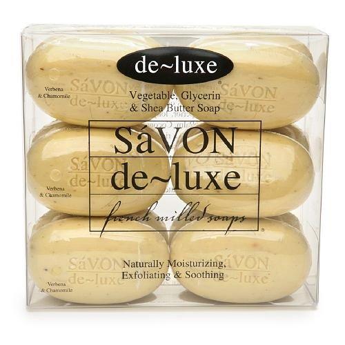 de-luxe SaVON Bar Soap Set, Verbena & Chamomile 12 (Deluxe Soap)