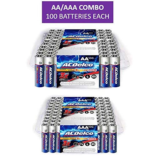 ACDelco AA and AAA Batteries, Alkaline Battery, 100 Count Each ()
