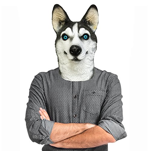 Off the Wall Toys Husky Dog Costume Face Mask Kennel Club]()