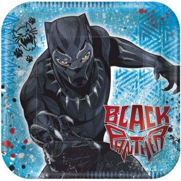 Black Panther Party Bundle 9'' Plates (16) Napkins (16)