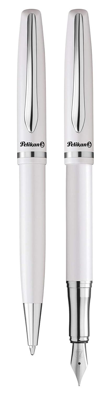 Pelikan Jazz Elegance 811101 Writing Set 1 Ballpoint Pen and 1 Fountain Pen Pearl White