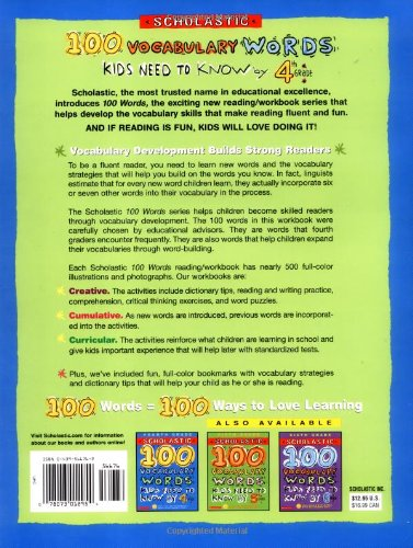 Amazon com: 100 Vocabulary Words Kids Need to Know by 4th