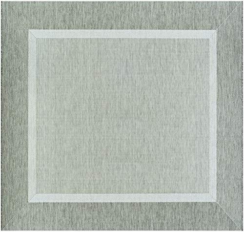 Couristan 5526/2312 Recife Stria Texture Indoor/Outdoor Area Rug, 8'6