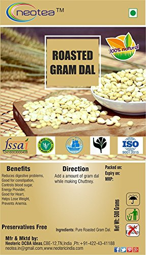 Neotea Roasted Gram Dal, 500g by neotea