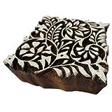 Square Shapes Design Textile Printing Fabric Wooden Block Designer Stamp Art