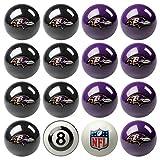 Imperial Officially Licensed NFL Merchandise: Home vs. Away Billiard/Pool Balls, Complete 16 Ball Set, Baltimore Ravens