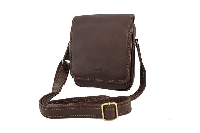 d85515efe34 Katana - Bolso al hombro de Piel para mujer Marrón chocolate  Amazon.es   Zapatos y complementos