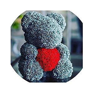 2018 40cm Bear of Roses Artificial Flowers Home Wedding Festival DIY Wedding Decoration Gift Box Wreath Crafts 28