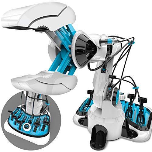 (Discovery Kids Toy DIY Hydraulic Robotic Arm Building Kit, Comes W/ Built in Suction Grip/Jumbo Claw, Lifelike Movements, Wrist/Elbow Mobility, Integrated Braking System, Best STEM Engineering Gift)