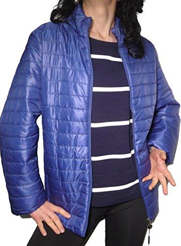 Giacca Ragazza Taglie Mezza Ecologico Piumino Donna Trapuntino Jeans Calibrato Leggera Stagione Moda Blu Forti 1g1tPxrw