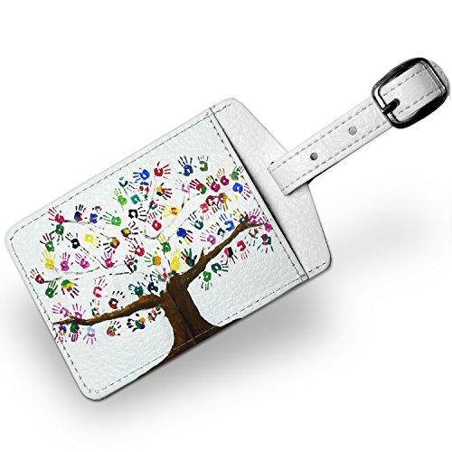 Price comparison product image Luggage Tag Tree of Life Art, Children, Family, Love, Travel ID Bag Tag - Neonb