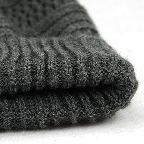 Slouchy Gris Hombres de Sombrero Hat Invierno Color Roffatide Punto Gorros Calentar Sólido Lana Beanie cTRfwRqBUa