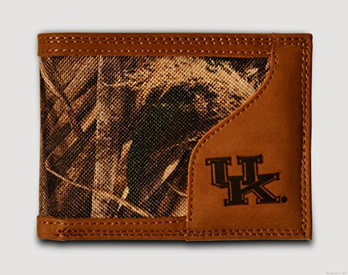 Kentucky Wildcats Bifold Realtree Max-5 Camo & Leather Wallet - Zep-Pro - NCAA