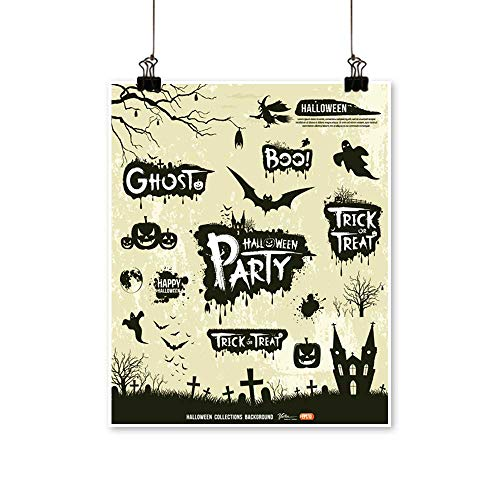 painting-home Wall Art Happy Halloween Silhouette Collections Design,Vector for Hallway Bathroom,28