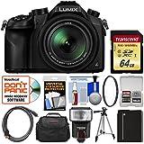 Panasonic Lumix DMC-FZ1000 4K QFHD Wi-Fi Digital Camera with 64GB Card + Case + Flash + Battery + Tripod + Filter + Kit