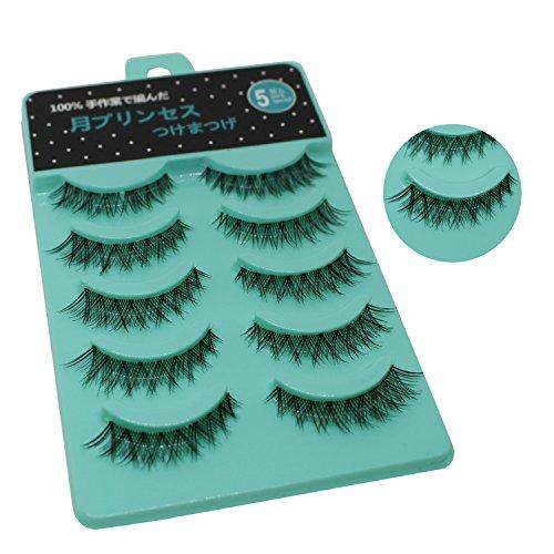 Scala 5 Pairs Natural Short Sparse Cross False Eyelashes Fake Eye Lashes Extension Makeup Tools