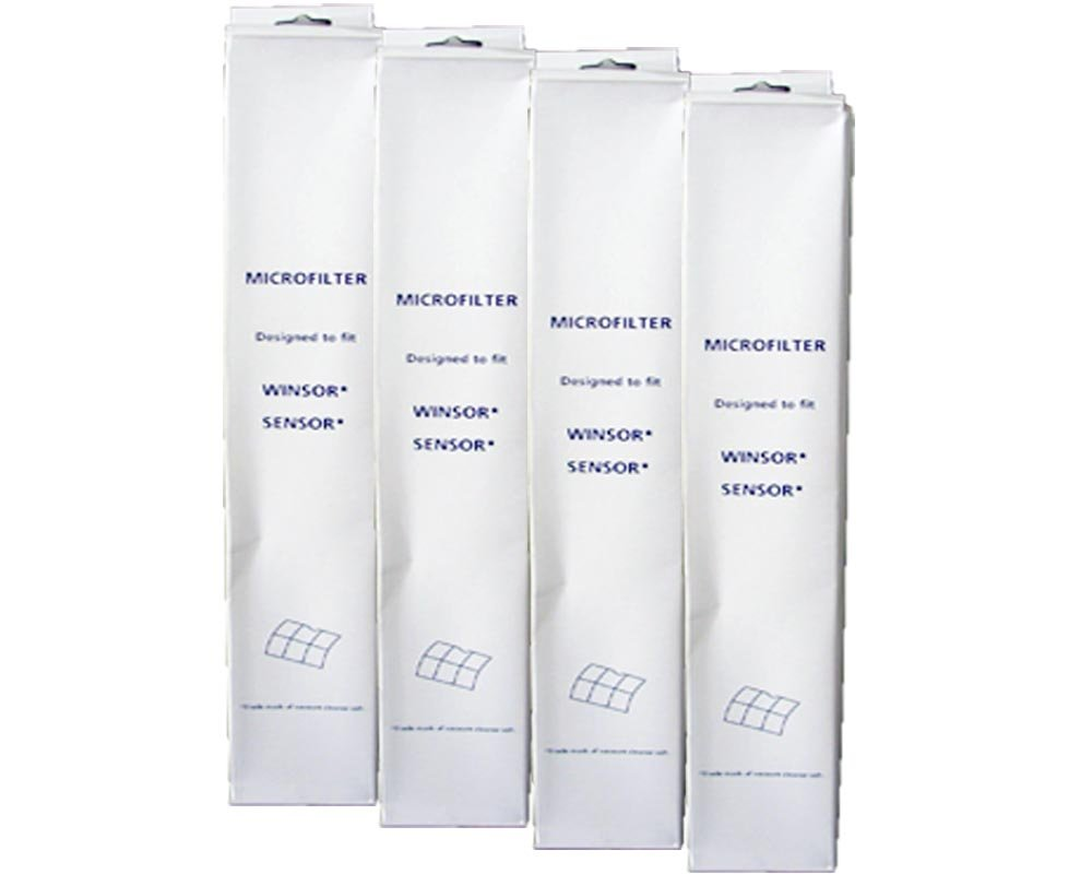 (4 Sets) Windsor Micro Filters, Sebo X series, G series, Kenmore, Essential G1 series Vacumm Cleaners, S12, S15, XP12, XP15, Xp18,X1, X4, X5 by Windsor