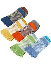 Winnfy 5 par Tåstrumpor Söt Bomull Fem Finger Ankel Sock Running Tåstrumpor Barn Sportstrumpor Bree Andningsbara Ankelstrumpor