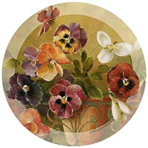 Thirstystone Stoneware Coaster Set, Pansies