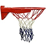 Truscope Sports 2-Pack Premium Quality Professional Basketball Net - 12 Loops - Fits Standard Indoor or Outdoor Basketball Hoop (Red, Blue, White)
