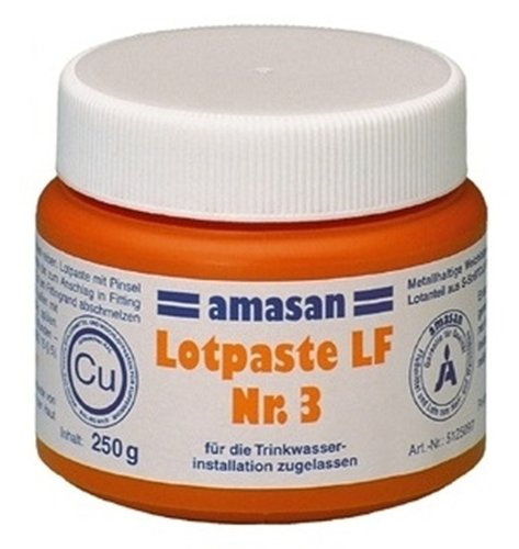 Lotpaste LF Nr.3 fü r Lö t-Fitting Kupfer Lot S-Sn97cu3 / 250g Amasan