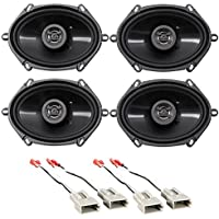 Hifonics 6x8 Front+Rear Factory Speaker Replacement Kit For 1997-98 Ford F-150
