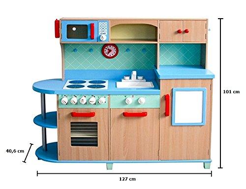 Holz Kinderküche Aga4Kids Sky Blue Kinderküche