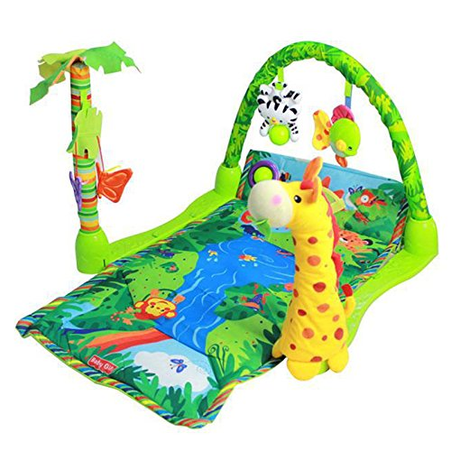 Baby Gift Rainforest Musical Baby Activity Play Gym Toy Soft Mat (Bat Tub Baby compare prices)