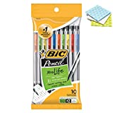 BIC Xtra-Life Mechanical Pencils, Medium Point 0.7mm #2, 10-Count with 3 Cleaning Clothes