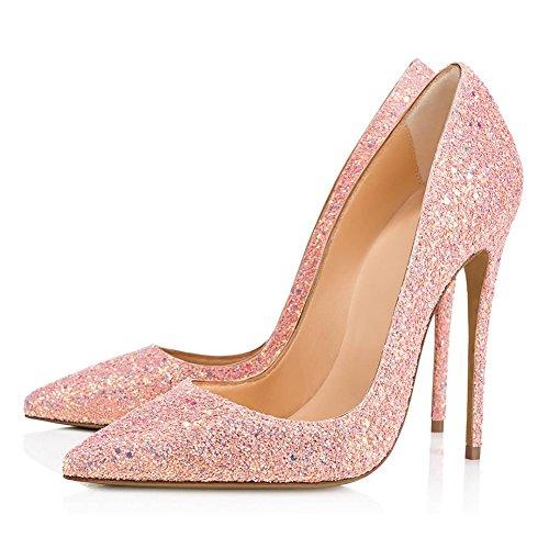 Transgenre TLJ Pointu Grande Sexy Mariage 53 Fête Taille De Bout KJJDE Femme Grit Élastique Club 43 Plateforme Soirée Haut Pink Talon 5zXnFqS